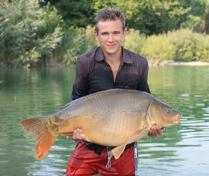 Alex with the Wright Fish at 44lbs a new PB