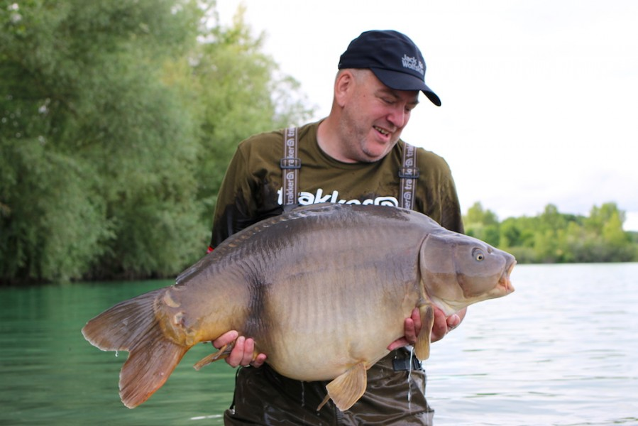 Stan Staniszewski with The Hammer at 50lb 4oz from Tea Party 1 24.6.17