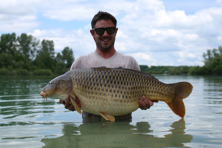 Jack with Long Common at 49lb 12oz from The Beach 25.5.2019
