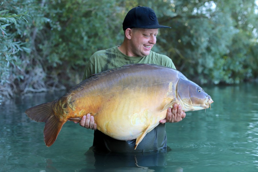 Aaron burke with Big Mac at 57lb 8oz from Turtles Corner 17/8/2019